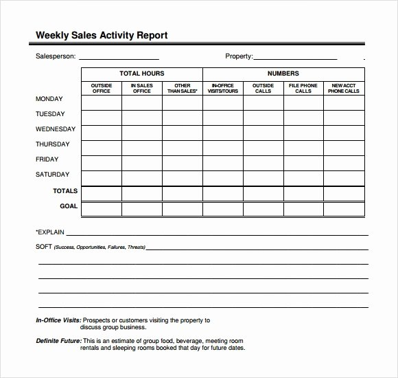 Weekly Sales Reports Templates Beautiful Sample Sales Call Report Sample – 12 Free Documents In