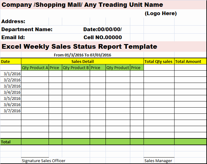 Weekly Sales Reports Templates Elegant Collection Of Free Report formats and Examples
