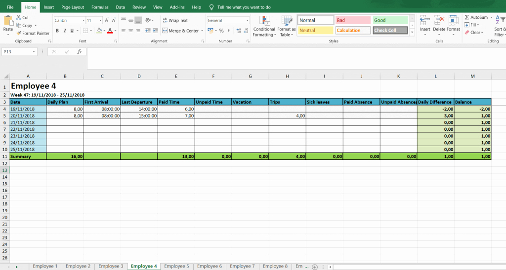 Weekly Timesheet Template Excel Awesome Monthly and Weekly Timesheets Free Excel Timesheet