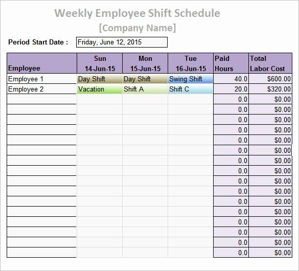 Weekly Work Schedule Template Pdf Best Of Work Schedule Templates – 8 Free Word Excel Pdf format