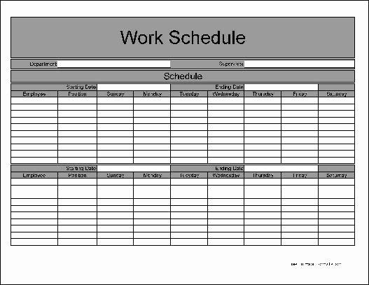 Weekly Work Schedule Template Pdf Elegant Weekly Work Schedule Template Free Driverlayer