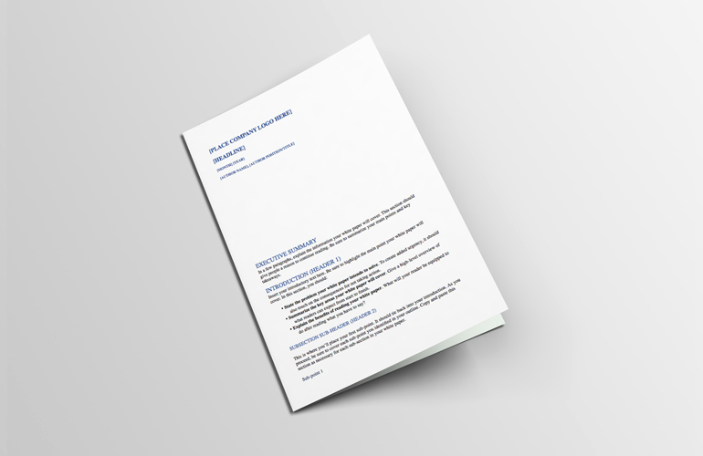 White Paper format Template Best Of How to Write White Papers People Actually Want to Read