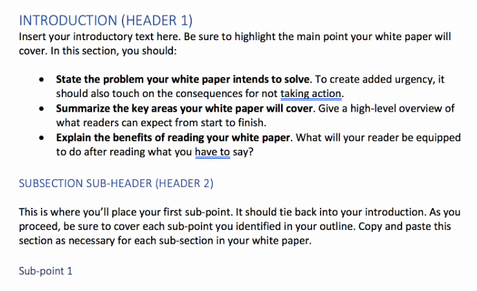 White Paper format Template Lovely 20 Creative White Paper Template Ideas to Increase Your