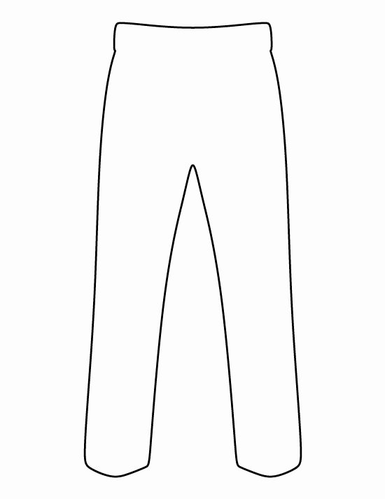 White Paper Outline Template Awesome Pants Pattern Use the Printable Outline for Crafts