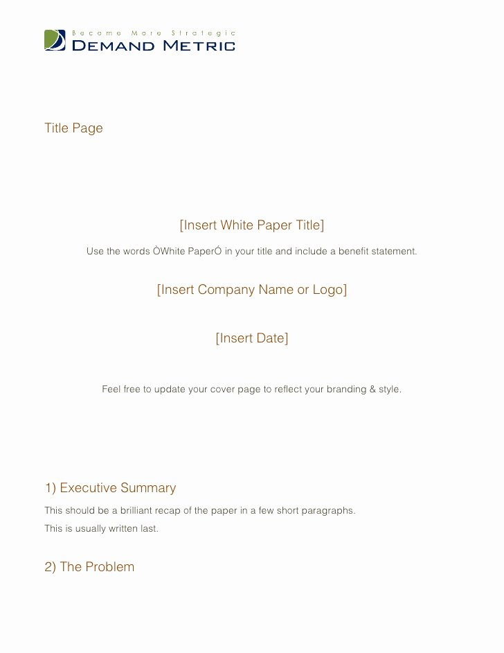 White Paper Outline Template Awesome White Paper Template