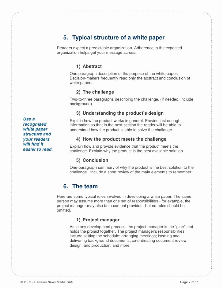 White Paper Outline Template Fresh How to Write A Good White Paper