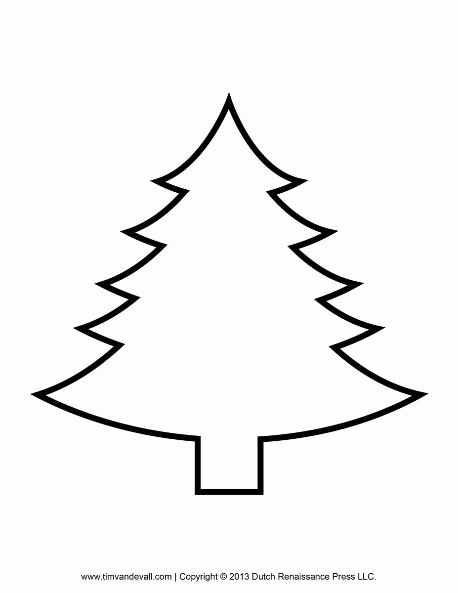 White Paper Outline Template Inspirational Printable Paper Christmas Tree Template Clip Art Coloring