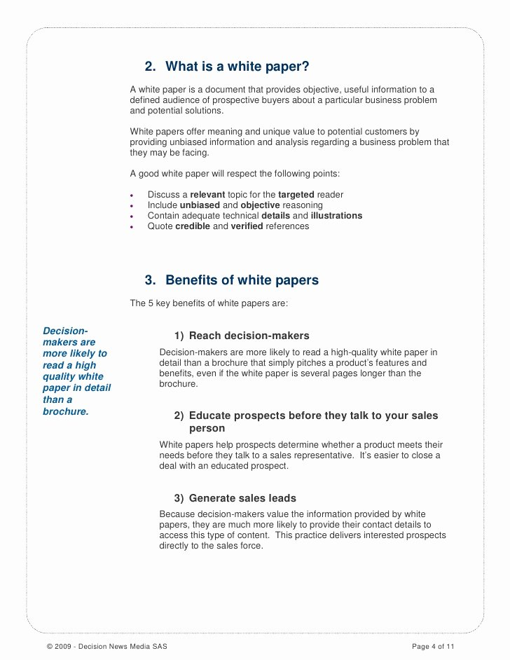 White Paper Outline Template Unique How to Write A Good White Paper