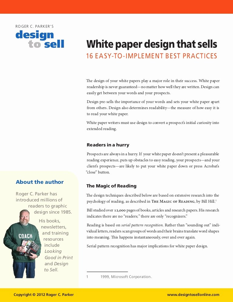 White Paper Template Doc Inspirational White Paper Design Tips that Sell