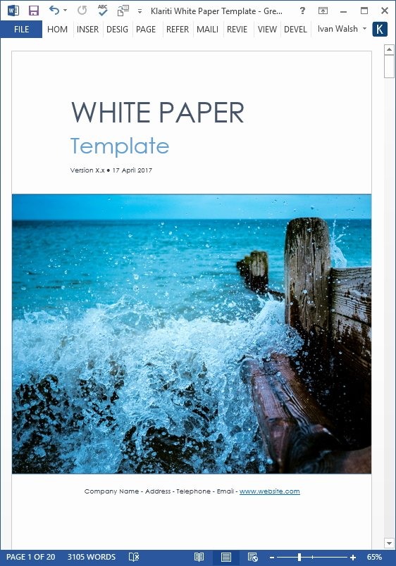 White Paper Template Doc Luxury White Papers How to Create An Outline