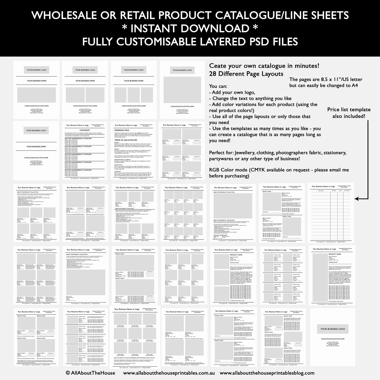 Wholesale Price List Template Beautiful Catalogue Template for wholesale or Retail Shop