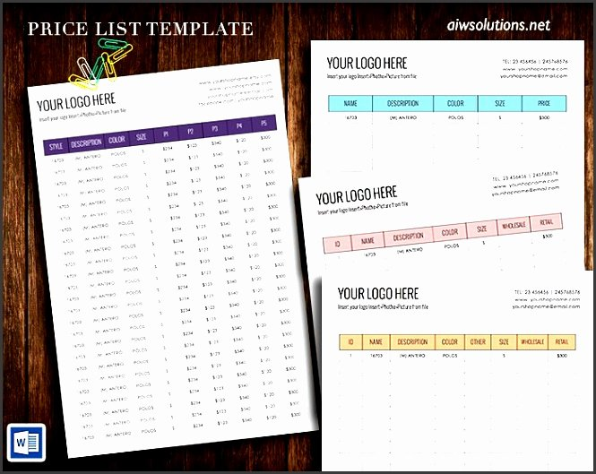 Wholesale Price List Template Best Of 7 Price Sheet Template Sampletemplatess Sampletemplatess