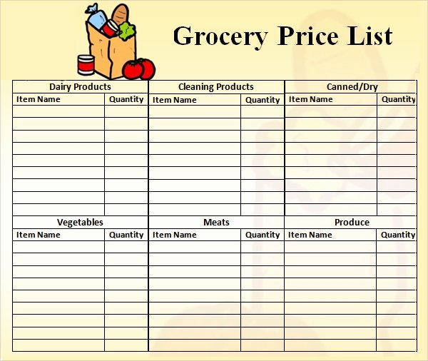 Wholesale Price List Template New Price List Template 9 Download Free Documents In Pdf