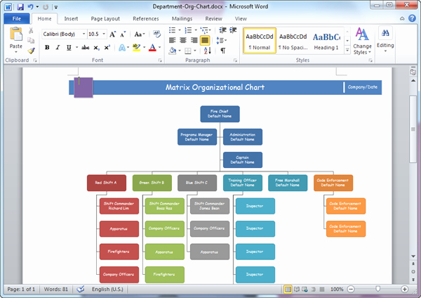 Word org Chart Template Elegant organizational Chart Templates for Word