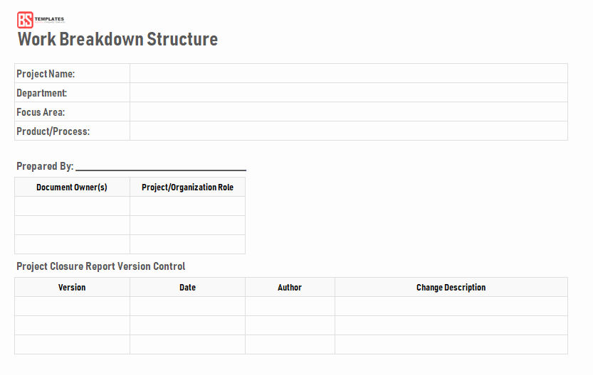 Work Breakdown Structure Template Excel Beautiful Work Breakdown Structure Wbs Template