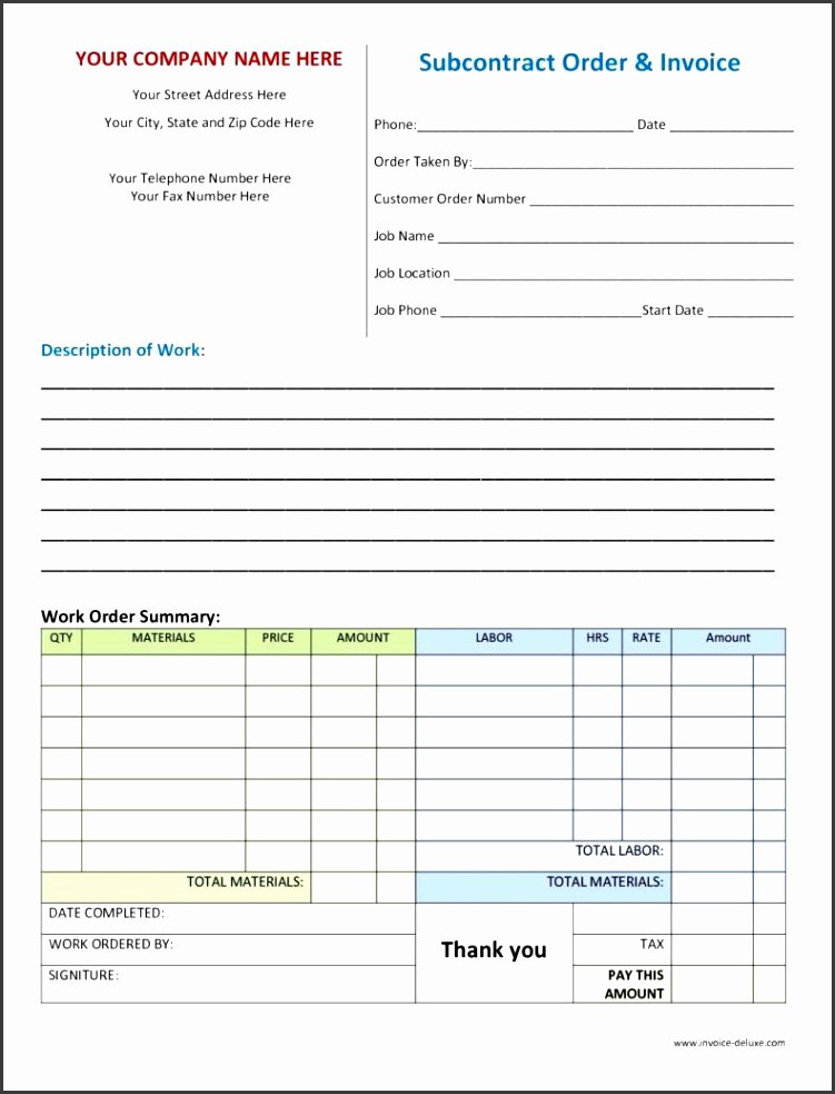 Work order Template Excel Beautiful 7 Customer order form Template Excel Sampletemplatess