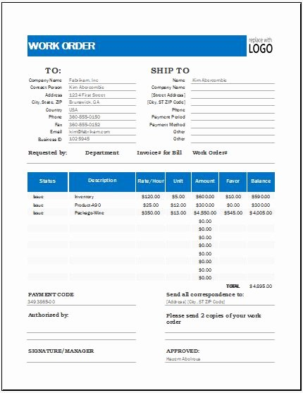 Work order Template Excel Best Of Work order Tracker Template for Excel