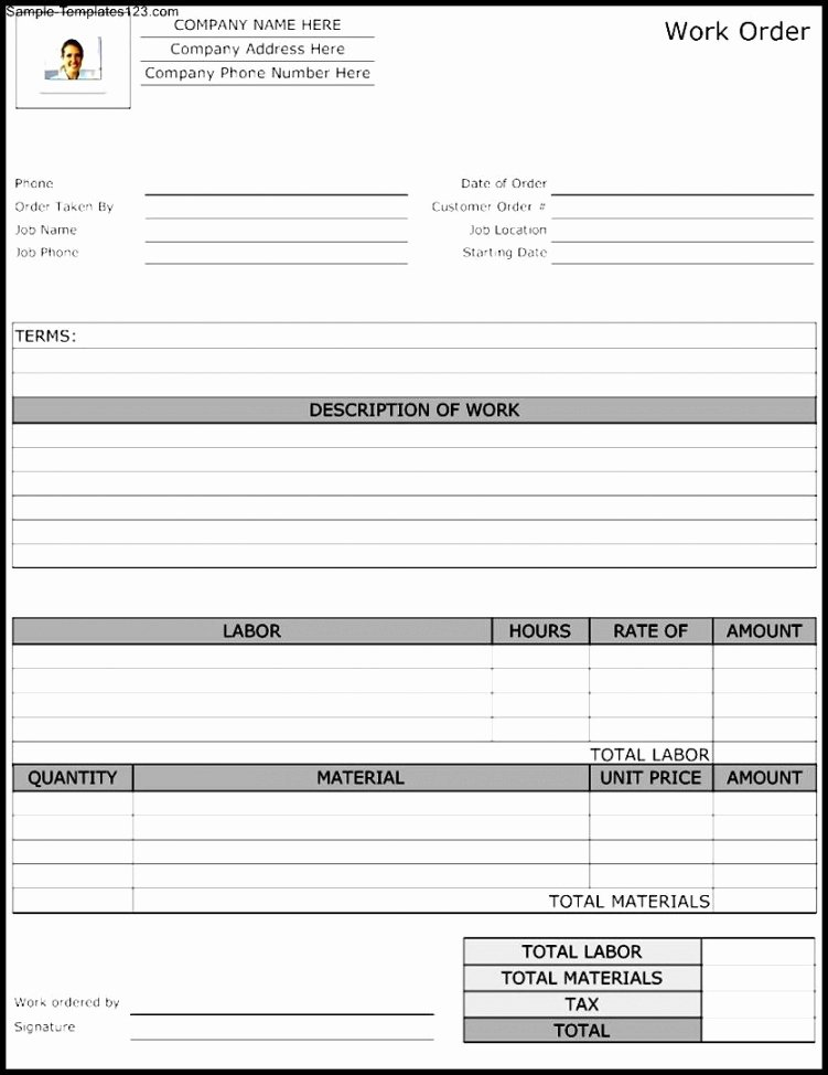 Work order Template Excel New Maintenance Repair Job Card Template Microsoft Excel