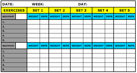 Workout Log Template Excel Awesome Pin by Joan Carter On Workout Life