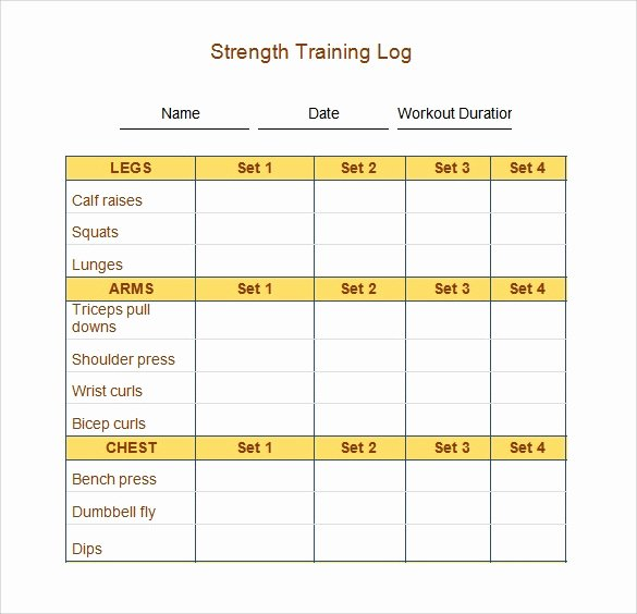 Workout Log Template Excel New 30 Sample Log Template Documents In Pdf Word Excel