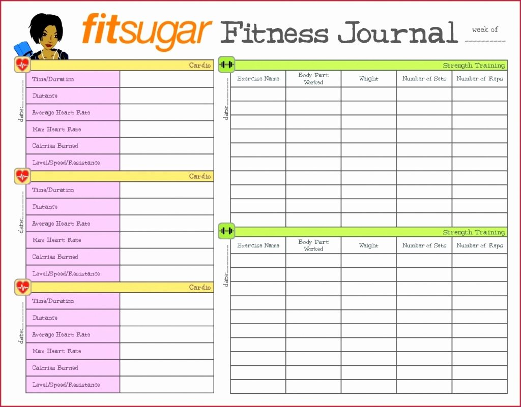 Workout Log Template Excel New Diet Spreadsheet Template