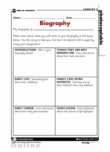 Writing A Biography Template Lovely Resume format Cv Template Ks2
