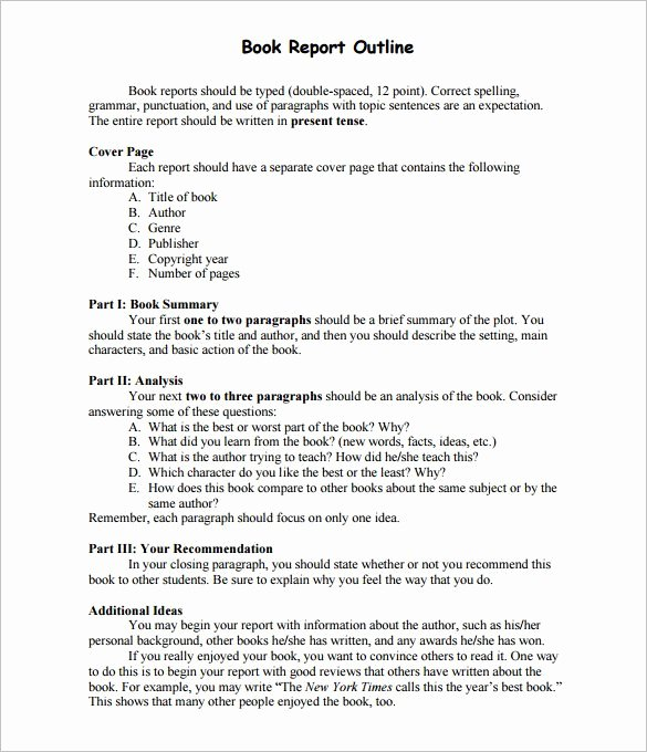 Writing A Book Outline Template Best Of 10 Report Outline Template Google Doc Pdf Apple Pages