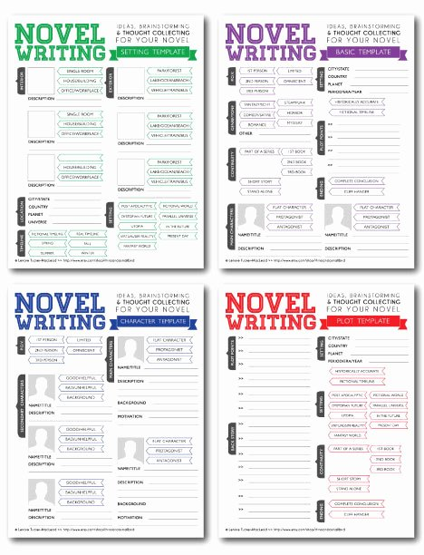 Writing A Book Outline Template Lovely Novel Writing Templates V2