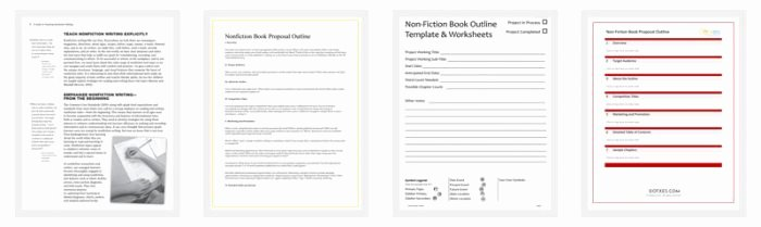 Writing A Book Outline Template New Non Fiction Book Outline Template 5 for Word Pdf