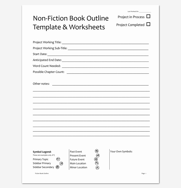 Writing A Book Outline Template Unique Book Outline Template 17 Samples Examples and formats
