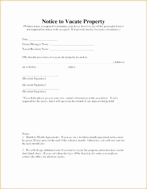 Written Notice to Vacate Templates Awesome Sample Vacate Letter to Tenant – Gulflifa
