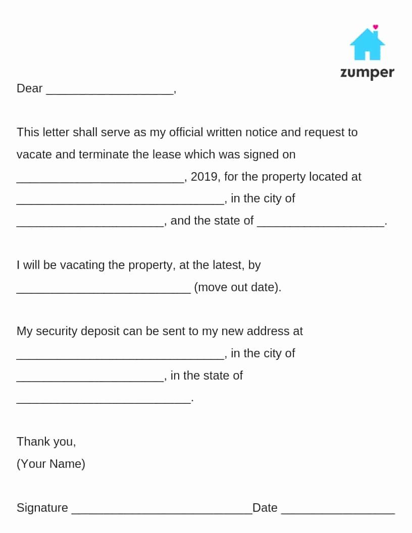 Written Notice to Vacate Templates Beautiful How to Give Written Notice to Your Landlord Notice to