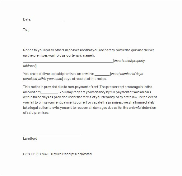Written Notice to Vacate Templates Fresh 20 Notice to Vacate Templates Pdf Google Docs Ms Word