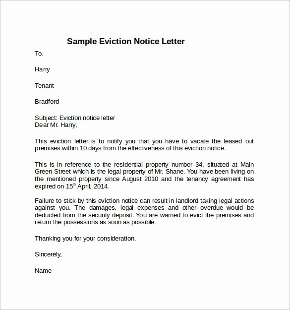 Written Notice to Vacate Templates Inspirational 11 Sample Notice to Vacate Letters Pdf Ms Word Apple