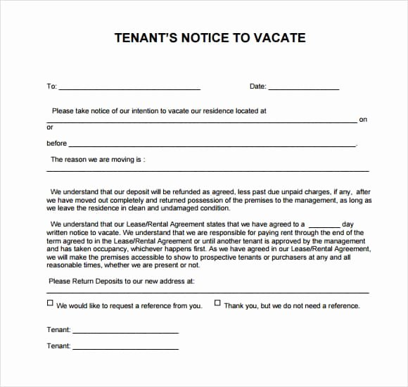 Written Notice to Vacate Templates Lovely 24 Free Eviction Notice Templates Excel Pdf formats