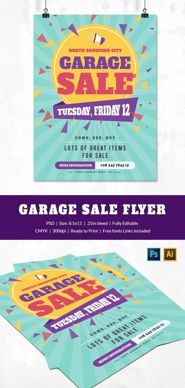 Yard Sale Flyer Template Beautiful 14 Best Yard Sale Flyer Templates & Psd Designs