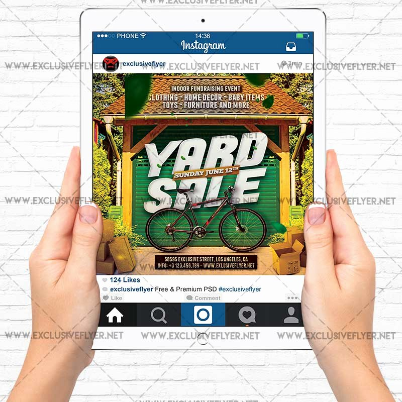 Yard Sale Flyer Template Beautiful Yard Sale – Premium A5 Flyer Template