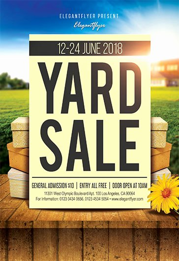 Yard Sale Flyer Template Best Of Premium Psd Flyer Templates
