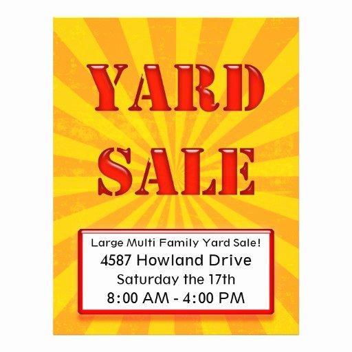 Yard Sale Flyer Template Elegant Eye Catching Yard Sale Flyer