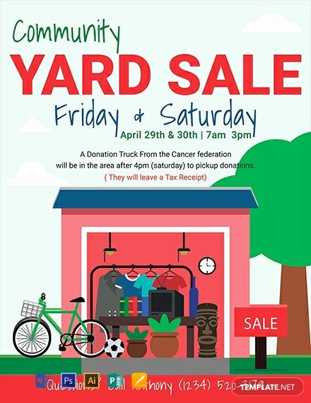 Yard Sale Flyer Template Elegant Free Yard Sale Flyer Template Download 1330 Flyers In