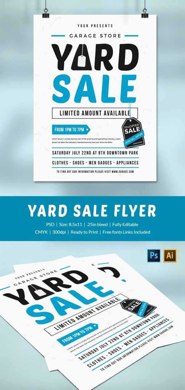 Yard Sale Flyer Template Fresh 14 Best Yard Sale Flyer Templates & Psd Designs