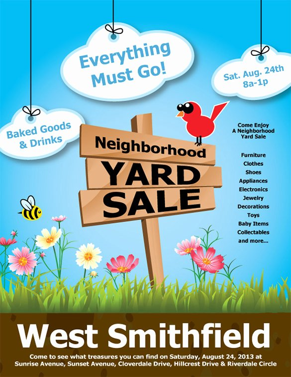 Yard Sale Flyer Template Fresh 21 Best Yard Sale Flyer Templates & Psd Word Eps