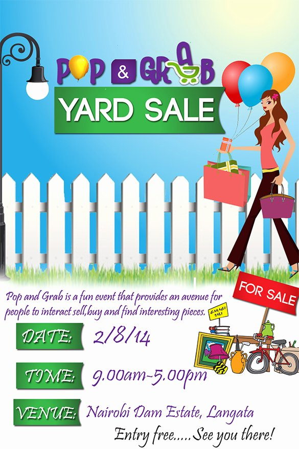 Yard Sale Flyer Template Lovely 21 Best Yard Sale Flyer Templates & Psd Word Eps