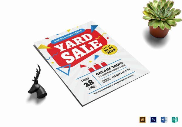 Yard Sale Flyer Template Luxury 27 Yard Sale Flyer Templates Psd Eps format Download