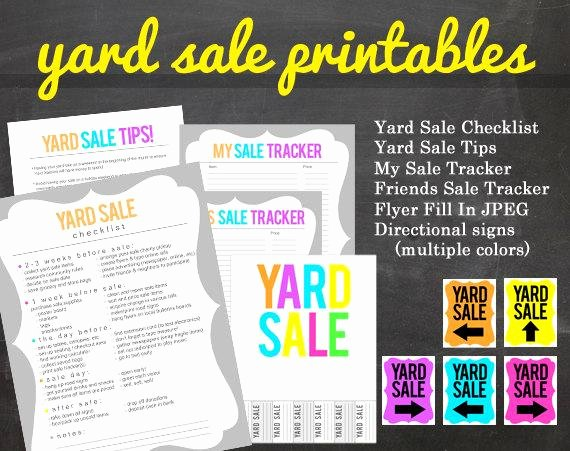 Yard Sale Flyer Template New Get organized Yard Sale Printable Pack for Your Yard or Garage