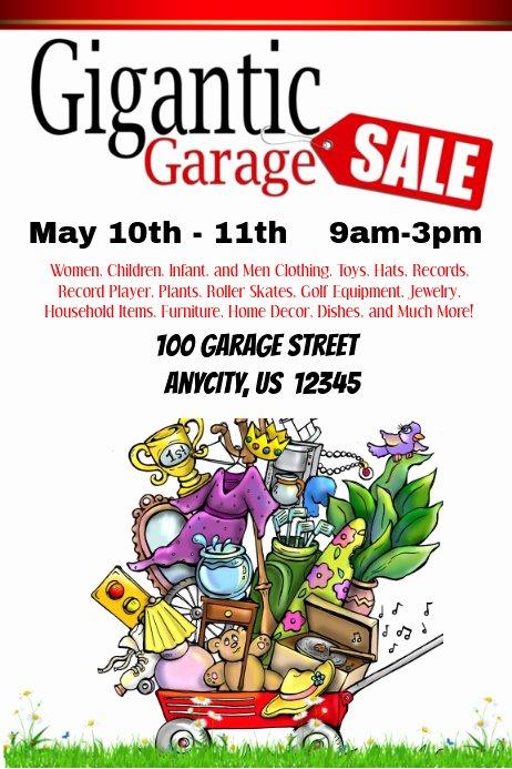 Yard Sale Flyer Template New Gigantic Garage Sale Template