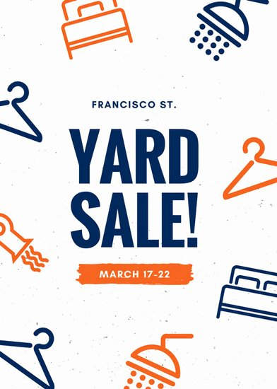 Yard Sale Flyer Template Unique Yard Sale Flyer Templates Canva