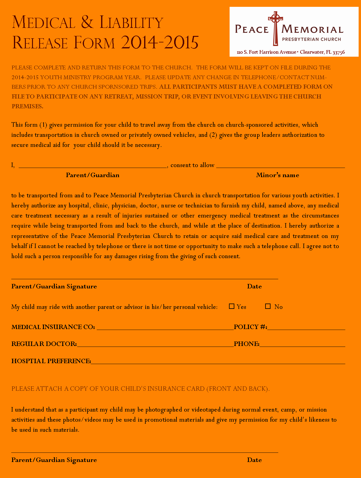 Youth Group Permission Slip Template Best Of 8 Church Youth Group Permission Slip Template