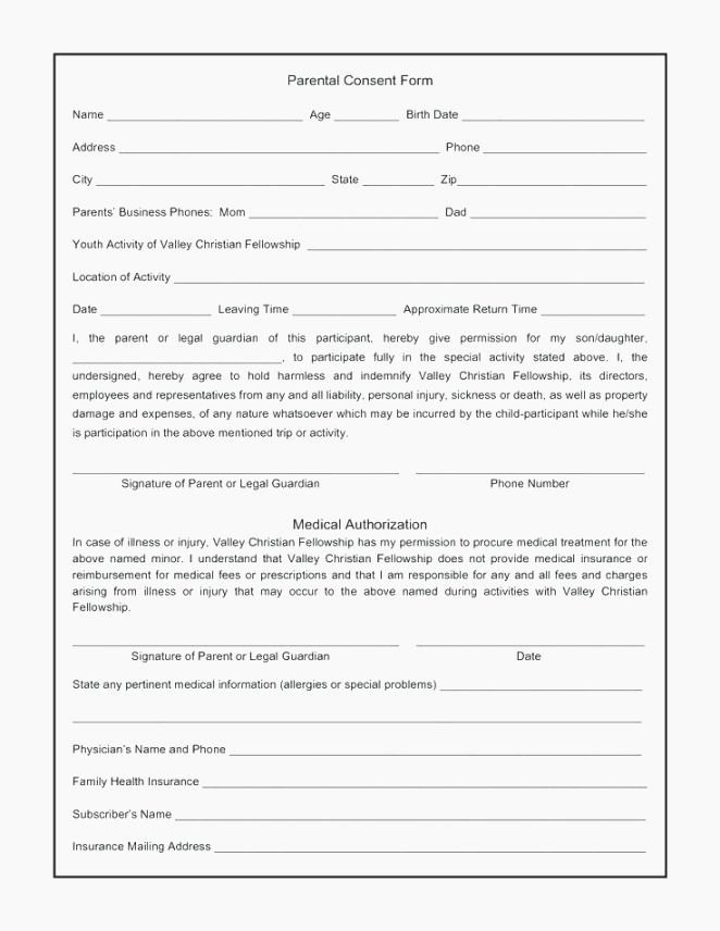 Youth Permission Slip Template Beautiful 49 Priceless Printable Permission Slips
