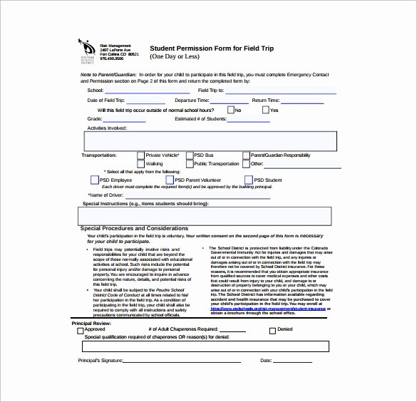 Youth Permission Slip Template Beautiful Free 14 Permission Slip Samples In Word